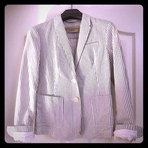 Burberry Cotton Striped Blazer